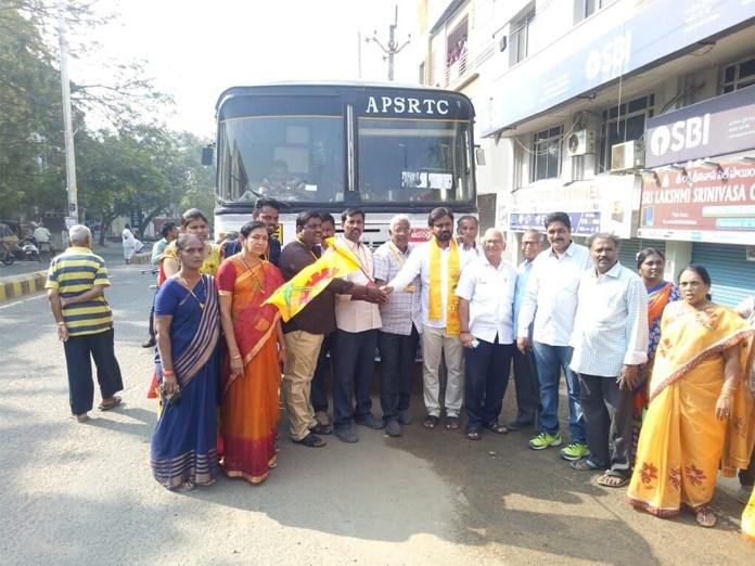 Govt plies more buses for Polavaram visit