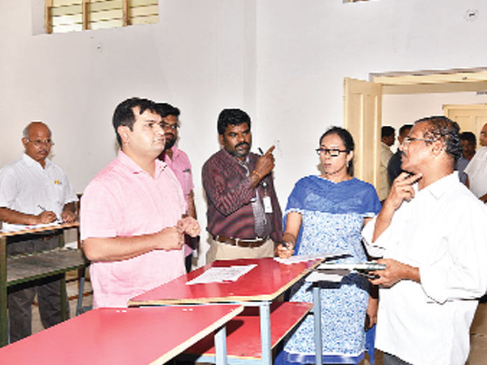Arrangements for counting halls inspected in Ongole