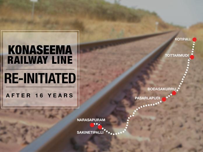 200 crore sanctioned for Kotipalli to Narsapuram railway line