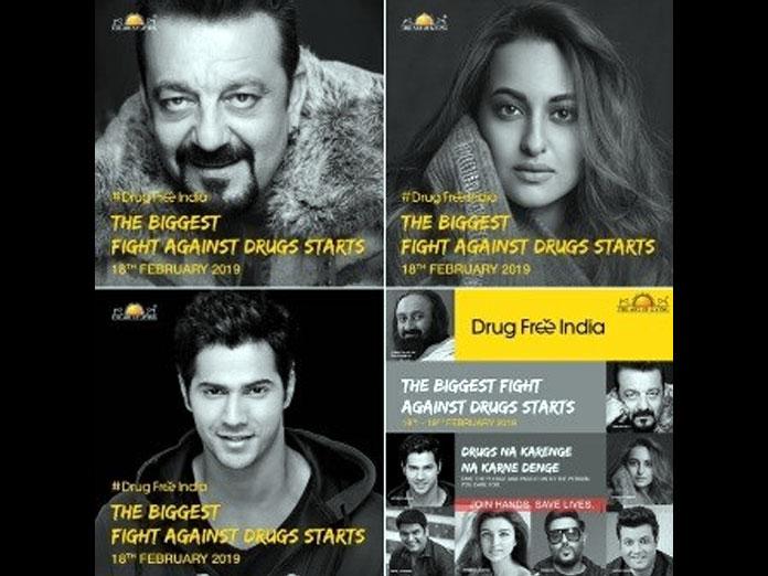 Sanjay Dutt, Sonakshi Sinha And Varun Dhawan Join Anti Drug Campaign