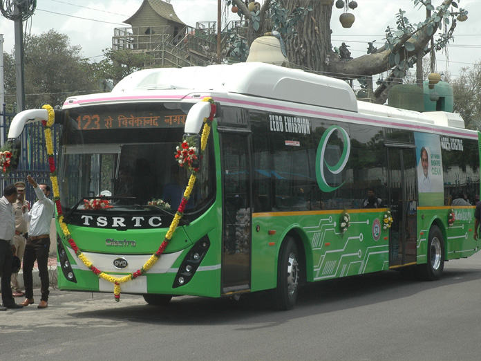 Nation's first fleet of FAME electric buses to run in Hyderabad
