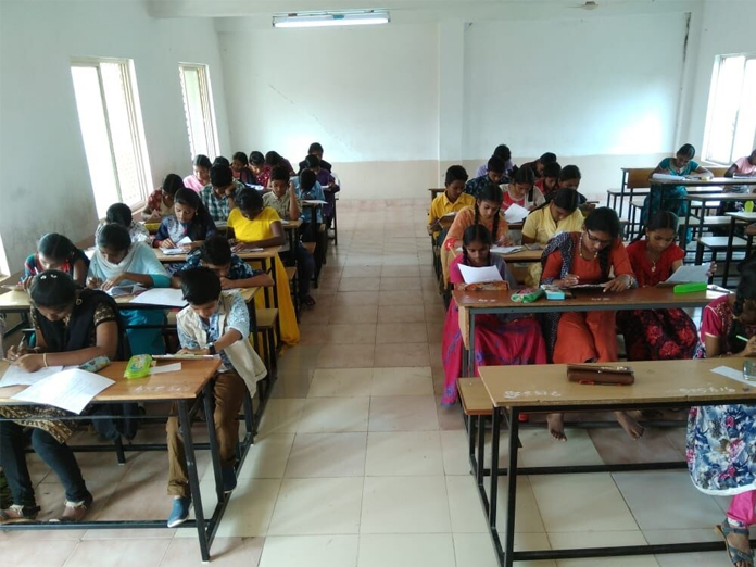 Over 800 students appear for talent test in Bhimavaram