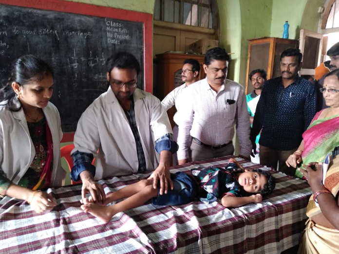 Assessment camp for differently-abled kids held by SSA in Kakinada
