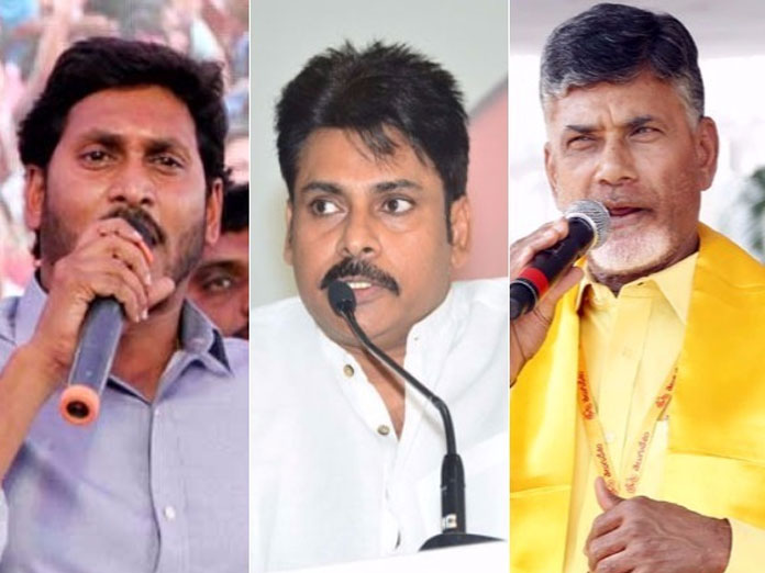 Chandrababu Naidu, YS Jagan & Pawan Kalyan Cut Outs Create Sensation