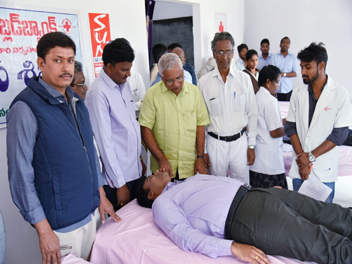 70 students donate blood in camp