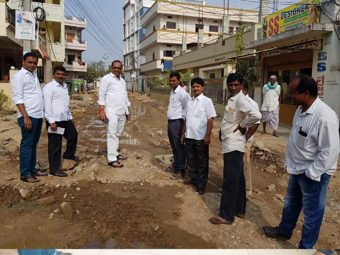 Corporator inspects CC road works
