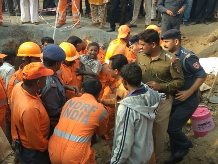 Child rescued from 200-feet-deep borewell after 16-hour operation