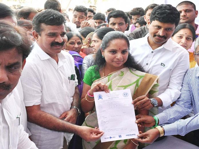 MP Kavitha launches organ donation camp