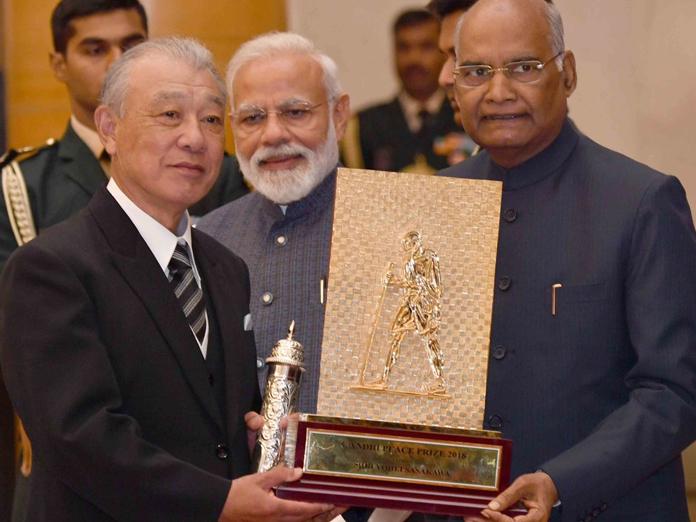 President Kovind presents Gandhi Peace Prize; hailed Gandhi as a visionary