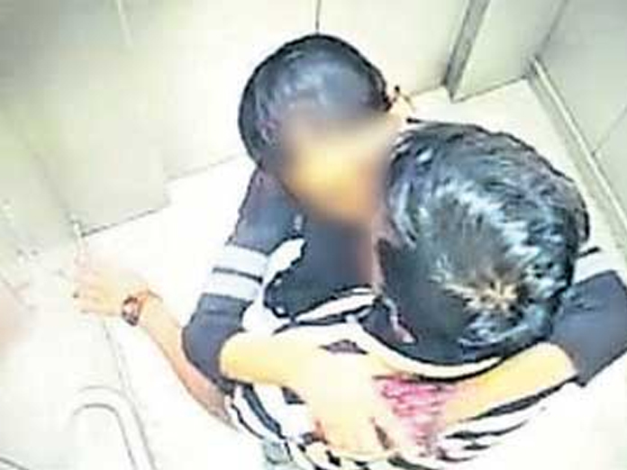 On cam: Couple caught smooching in Hyderabad metro lift