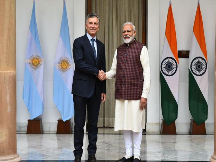 PM Modi, Argentina President hold bilateral talks at Hyderabad House
