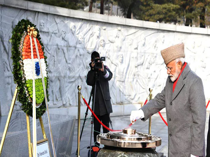 PM Modi Visits National Cemetery In Seoul, Pays Homage To Fallen Soldiers