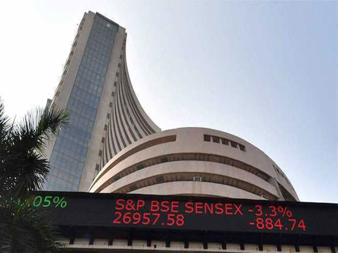 Sensex falls over 100 pts in early trade; ONGC rallies 6 %