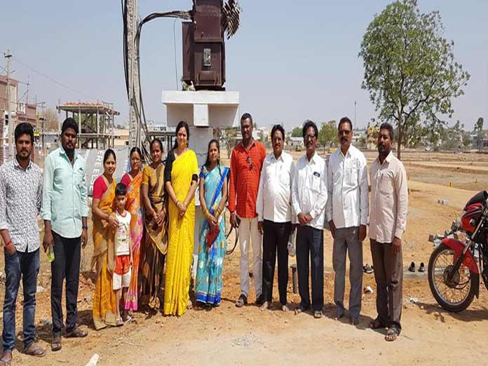 Corporator commissions two 100 KV transformers