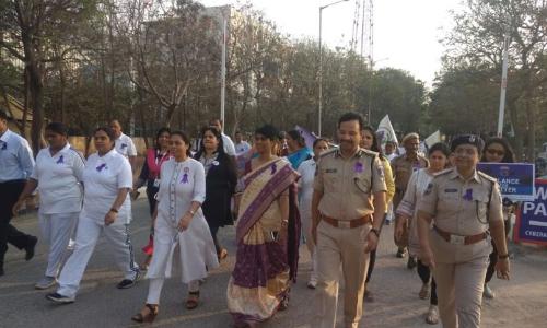 Lady cops celebrate International Women's Day in Cyberabad