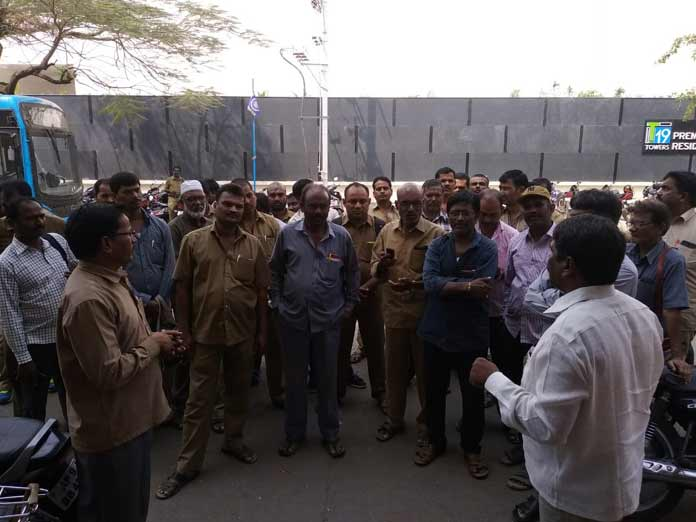 RTC staff protest over delay in salaries