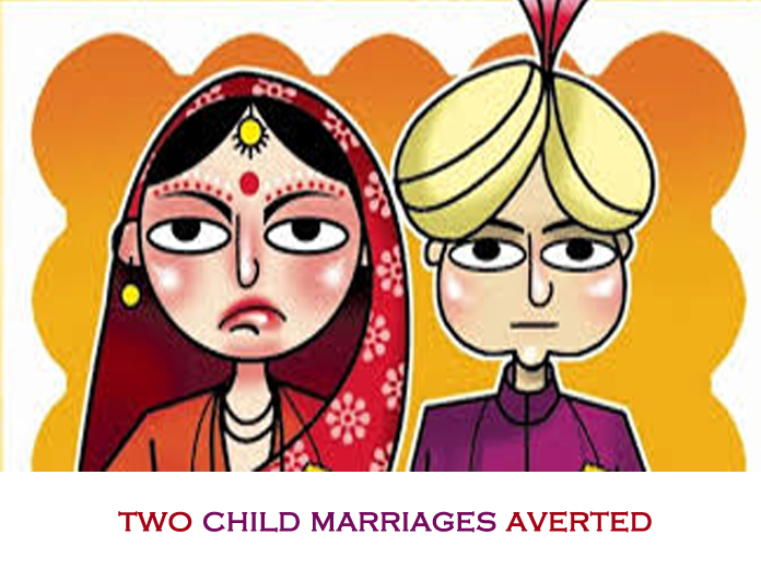 Two child marriages averted