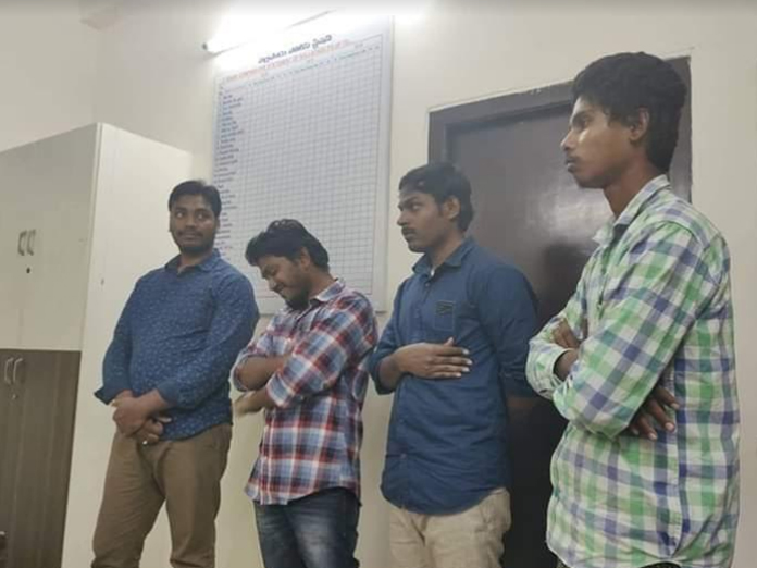 Cyberabad police produced four employees of IT Grid Company before High Court Judge in Kundanbagh