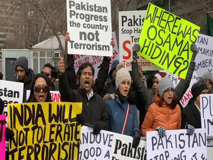 Indian-Americans protest outside UN headquarters against Pulwama attack By Yoshita Singh