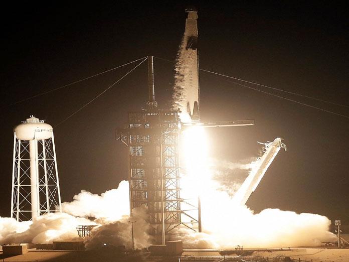 SpaceX launches Crew Dragon test flight into orbit