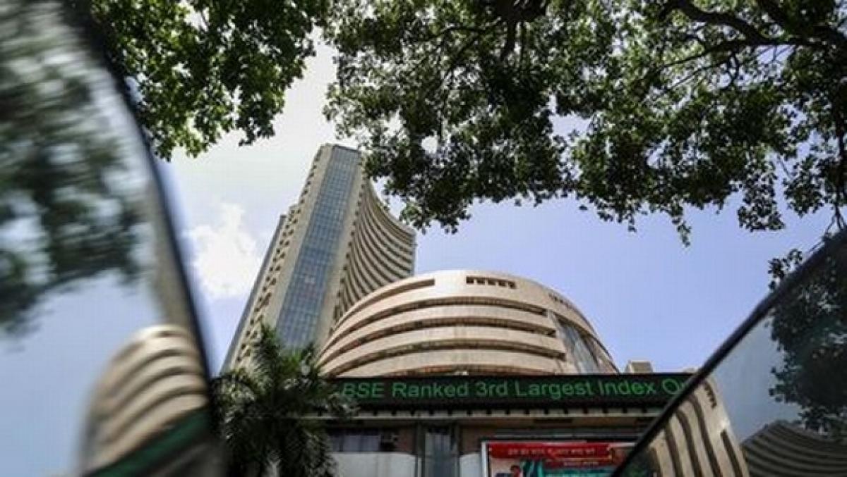 Sensex provisionally closes 587 points down