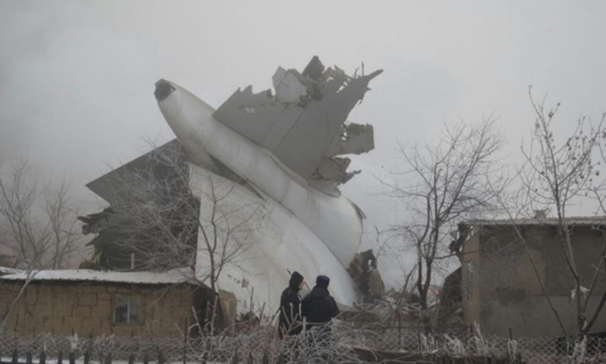 Turkish cargo plane crashes near Kyrgyzstan leaving 30 people dead