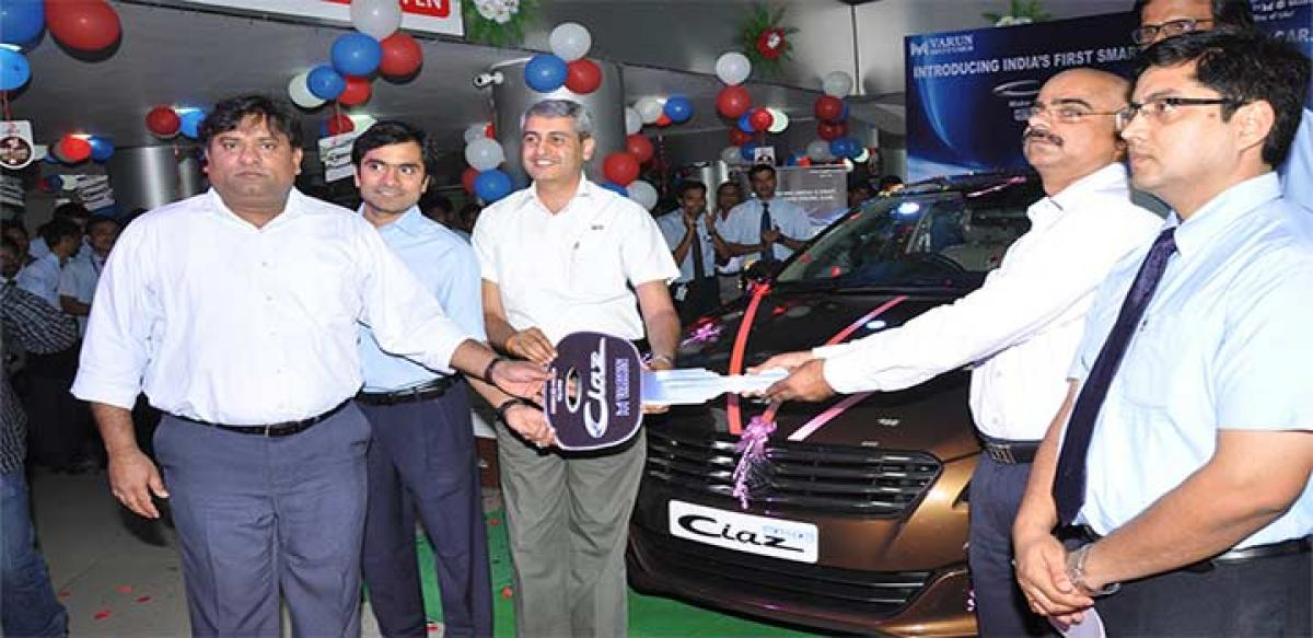 Smart Hybrid Ciaz hits Hyderabad roads