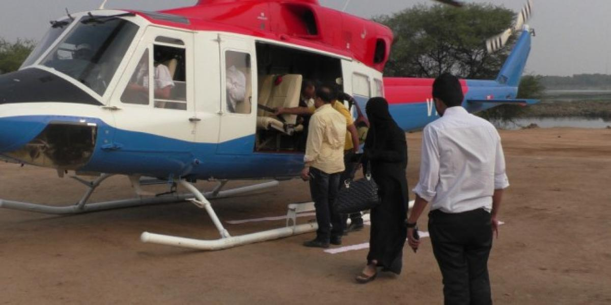 Hyderabad helicopter joyrides from today