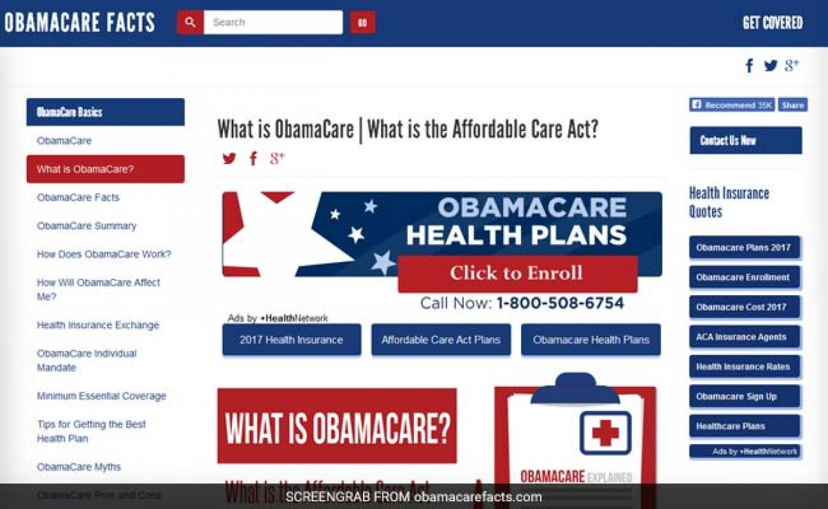 US Republicans Lack Agreement On Obamacare Ahead Of Donald Trump Speech