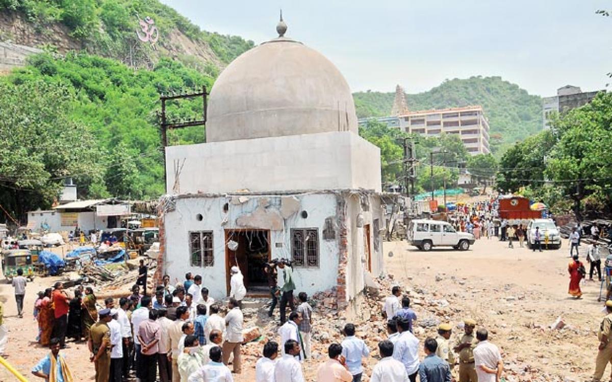 Dargah compound wall demolished