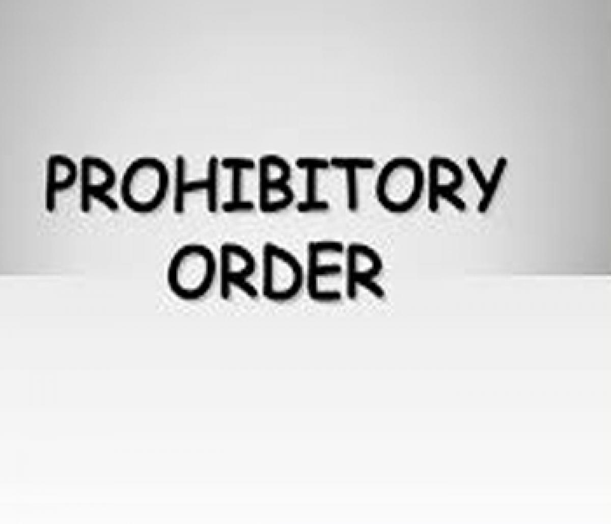 Prohibitory orders in Karimnagar