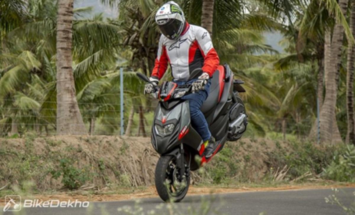 Aprilia SR 150 deliveries commence in India
