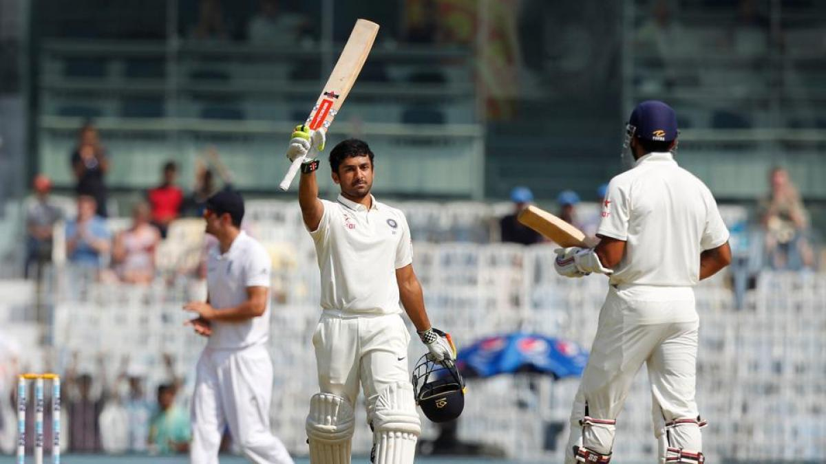 Karun Nair hits maiden century, India post 463-5 at lunch on Day 4