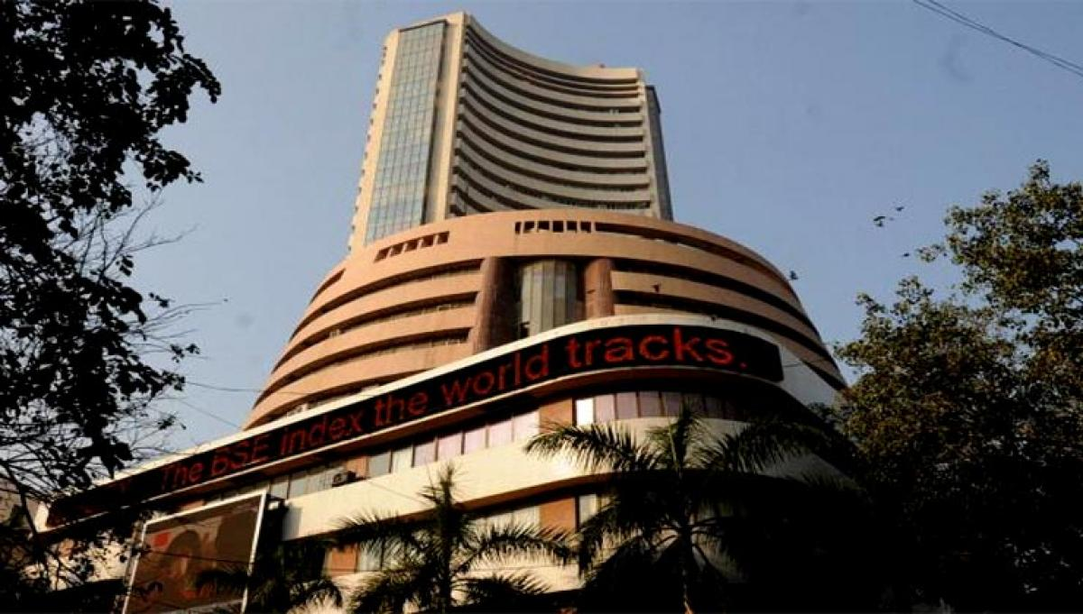 Sensex trades 28 points up in afternoon session
