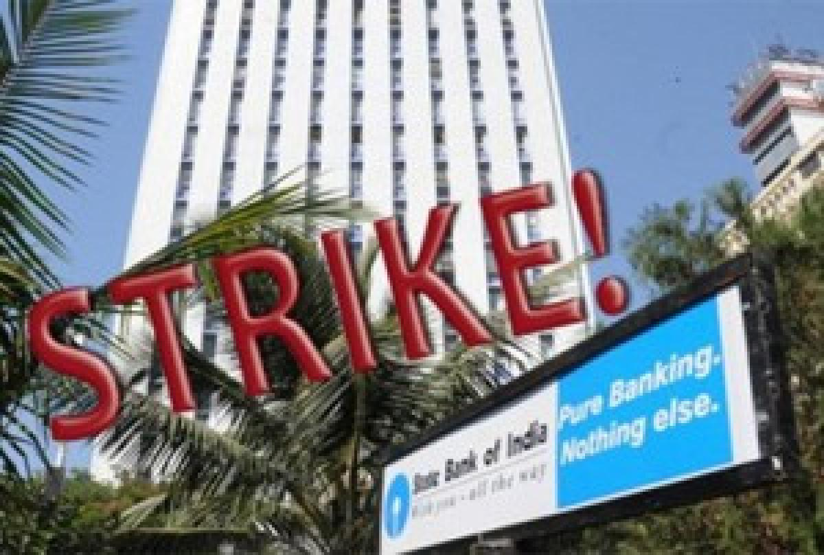 PSU bank employees on strike, operations hit partially