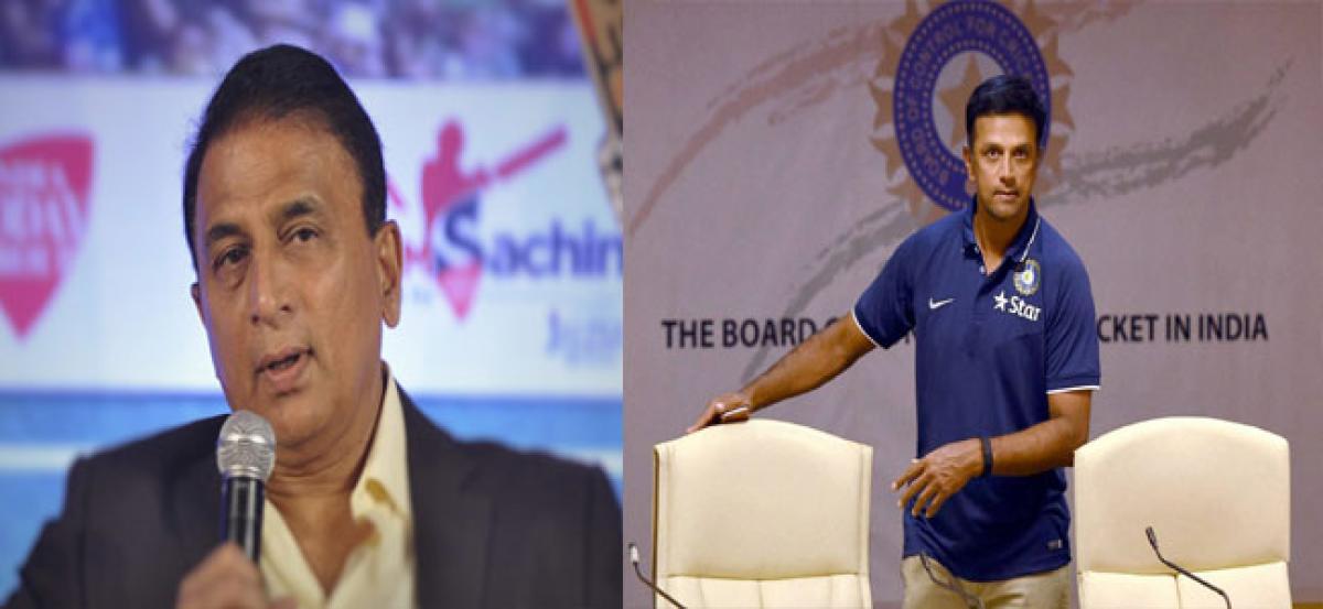 Bring in Dravid, says  Sunil Gavaskar