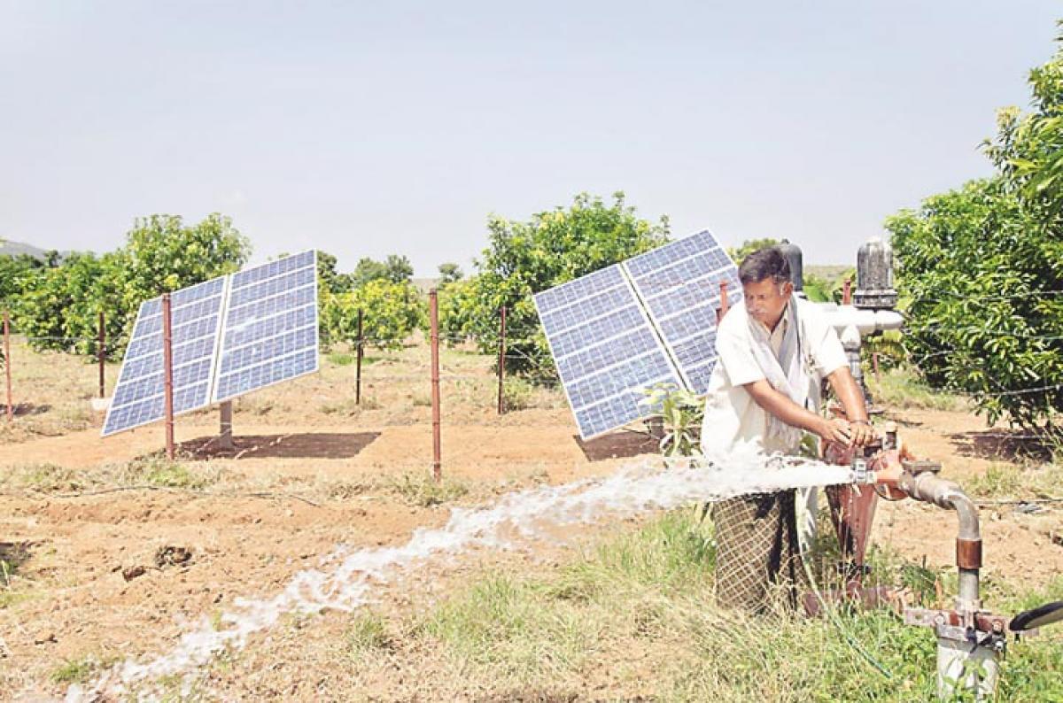 Solar pump sets meet needs of farmers