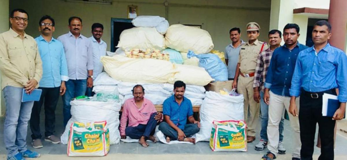 Gutkha worth 7.23 lakh seized; Two held
