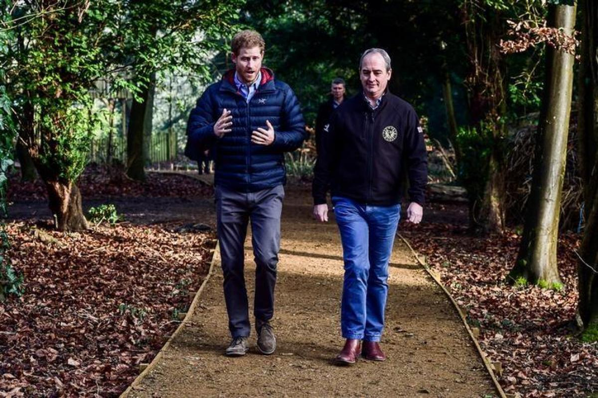 Britains Prince Harry says jokes help cope at veterans support centre