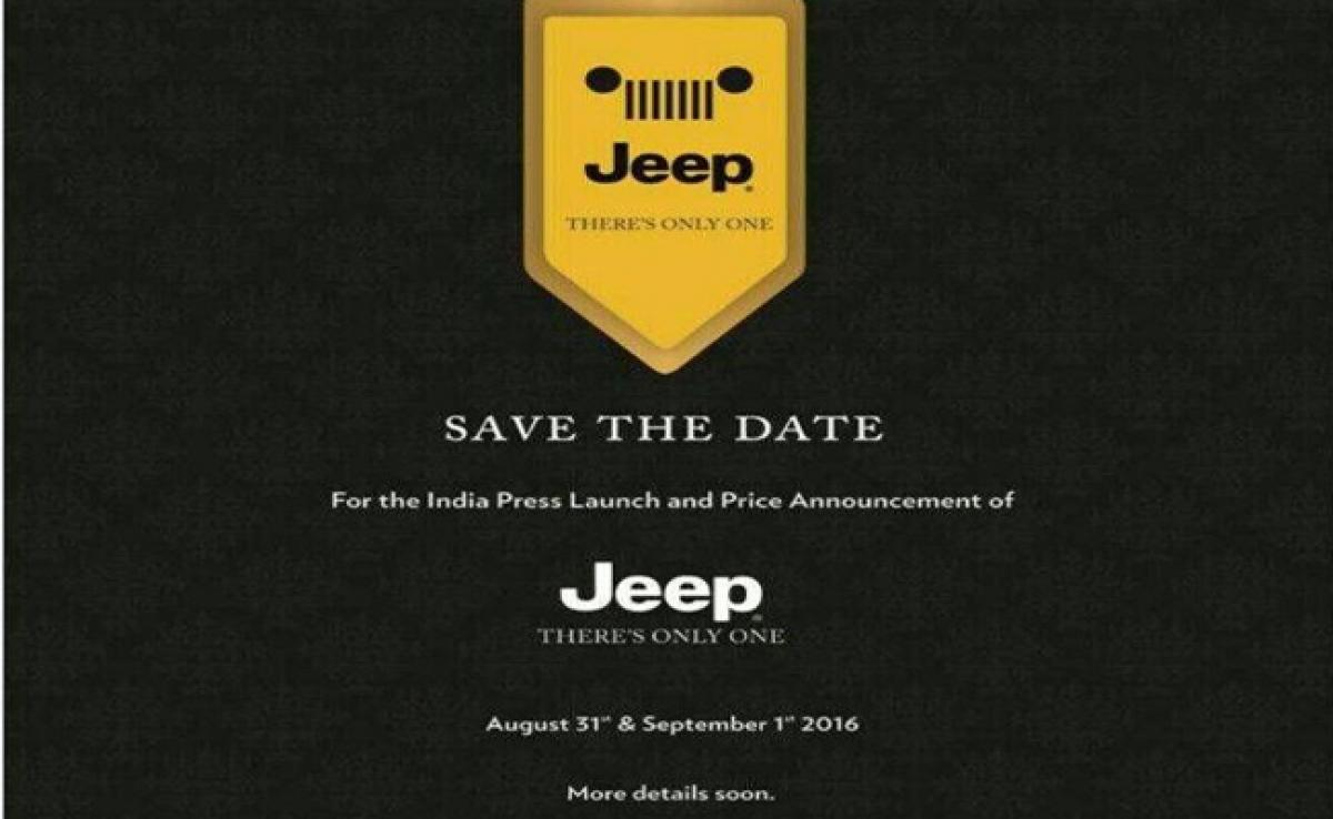 Jeep India launch date announced