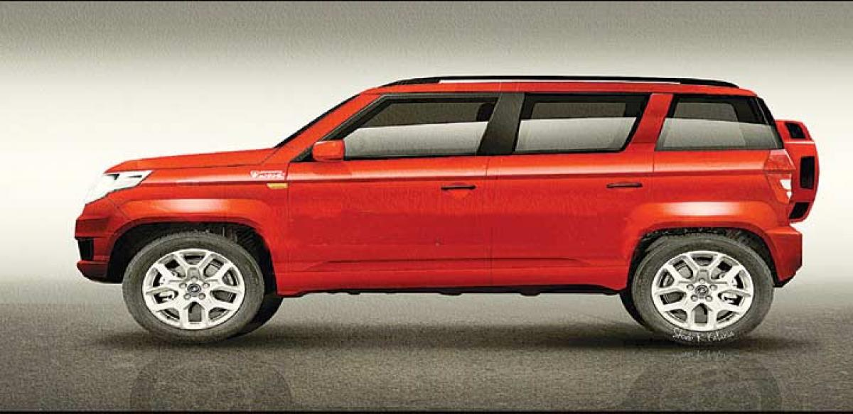 Mahindra TUV300 to be launched in India today