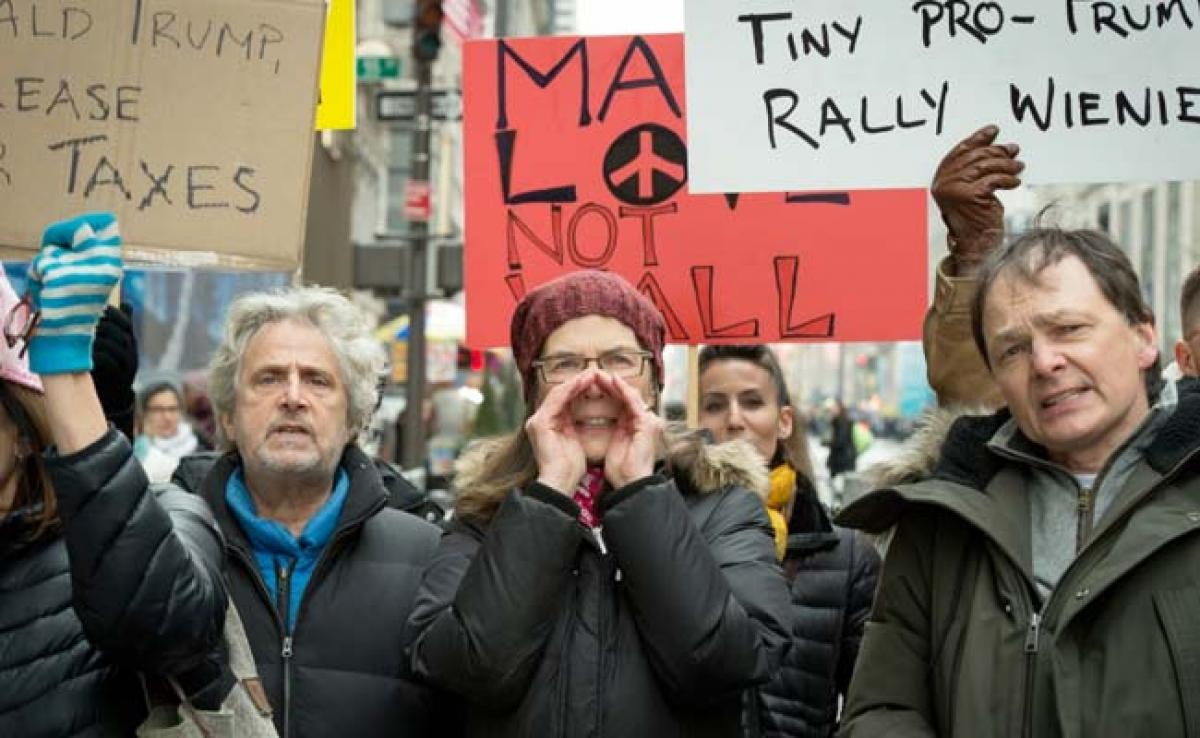 In New York, Pro-And Anti Donald Trump Supporters Face Off