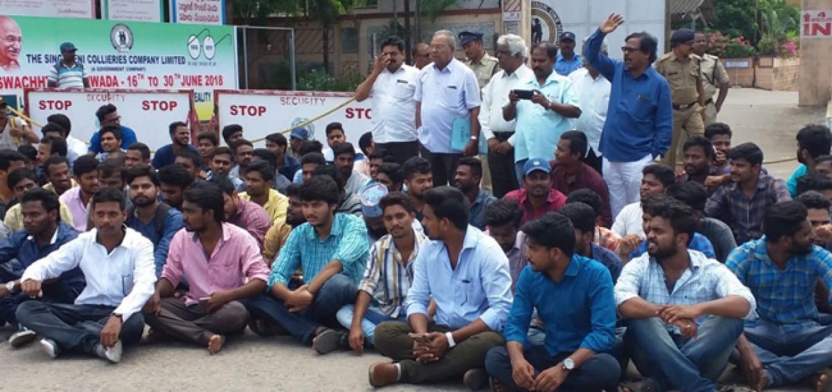 SCCL JMET staff seek regularisation of jobs, quarters