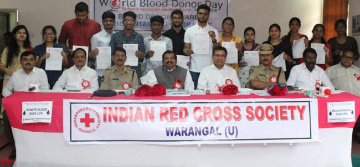 Indian Red Cross Society to offer internship to students every year