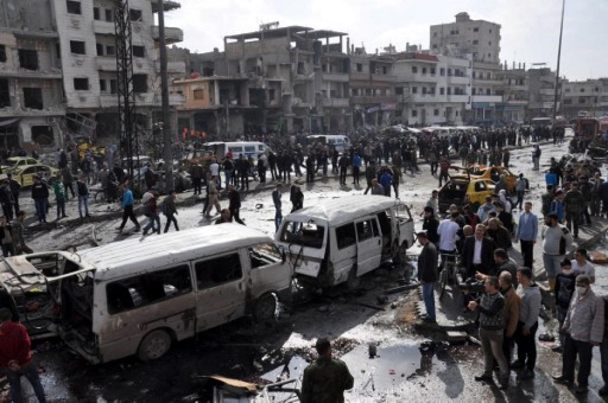 Twin suicide attacks on bases in Syrias Homs kill 42: monitor