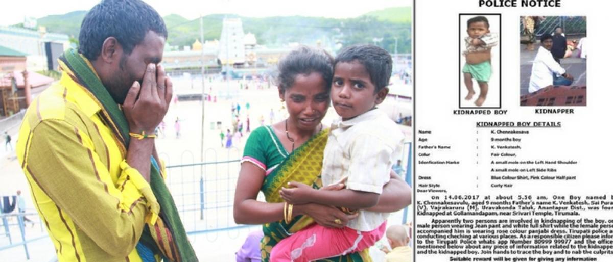 Child abduction: Parents grim battle for reunion at Tirumala