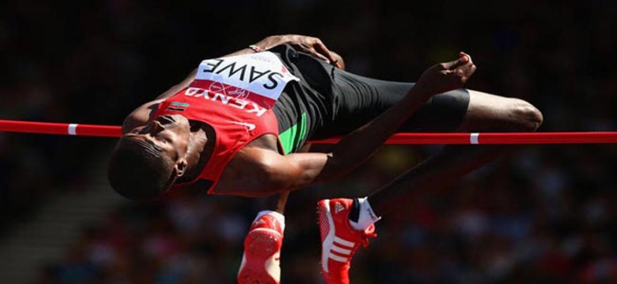 Kenyans celebrate Sawes pioneering high jump gold medal