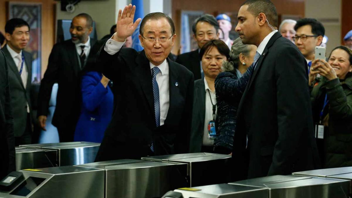 Outgoing Secretary-General Ban Ki-moon bids farewell to UN
