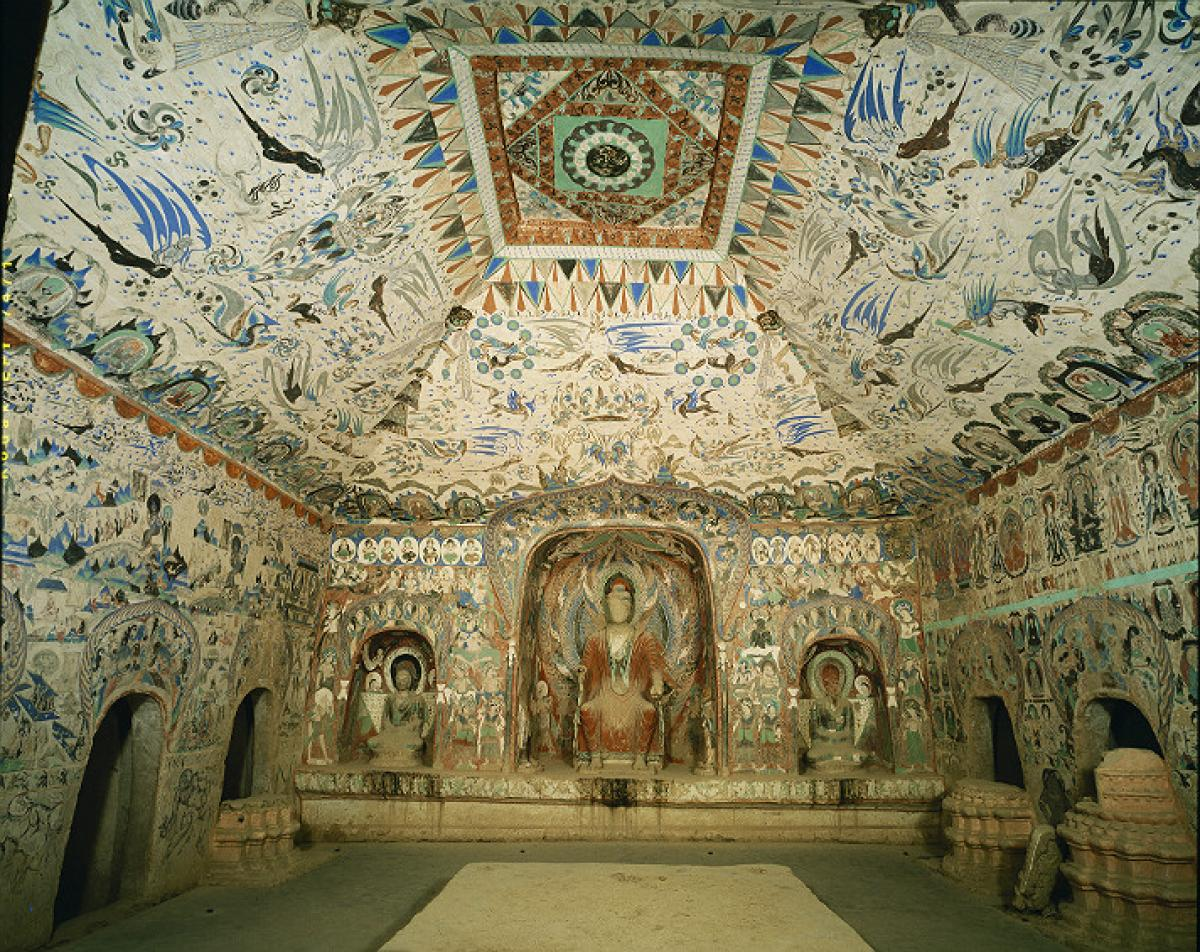 Hindu deities form part of Los Angeles Getty Center's China Cave Temples exhibition