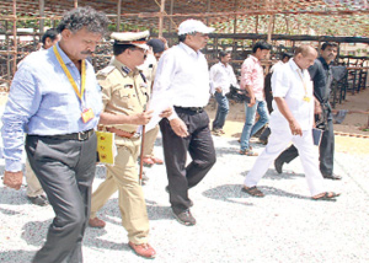 DGP inspects security at Mahanadu